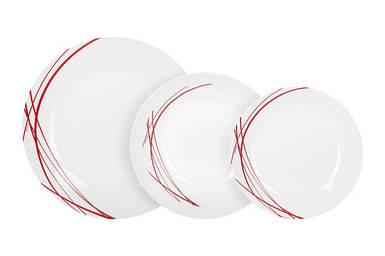 Сервиз столовый Arcopal Domitille Rouge из 18 предметов P3363