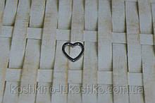 Коннектор для бижутерии  сердце