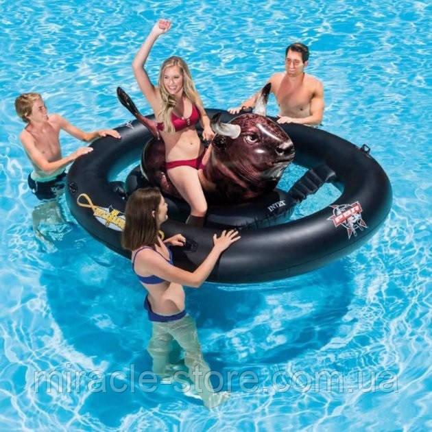 Водный надувной игровой центр Intex Надувной бык Родео 239 x 196 x 81 см Интекс