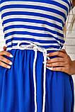 Платье-сарафан женское летнее комбинированное (синий, р.42-48), фото 5