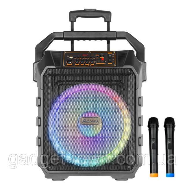 Колонка акумуляторна з радіомікрофонами UF-983 / 120W (USB/FM/Bluetooth)