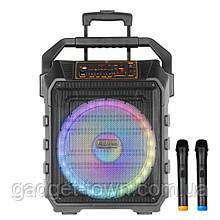 Колонка аккумуляторная с радиомикрофонами UF-983 / 120W (USB/FM/Bluetooth)