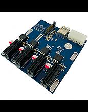 Райзер-расширитель на 4 порта PCI-e x1