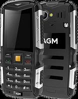 """Протиударний телефон AGM M1 IP68, 2570 mAh, Великі кнопки, 2 SIM, Підтримка російської мови, Дисплей 2.4"""", фото 1"""