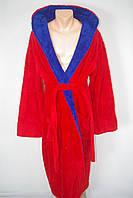 Мужской  халат махра красный  качество