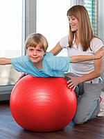Фитбол (Мяч для фитнеса, гимнастический) глянец OSPORT 55 см (OF-0017)