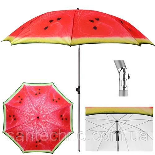"""Зонт пляжный с наклоном """"Арбуз"""" d2м"""