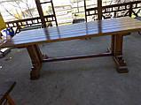 Стіл дерев'яний з лавками для саду, дачі  Люкс, фото 4