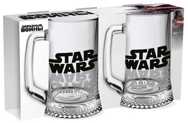 Набір кухлів для пива ОСЗ Ладья Star Wars Logo 500 мл 2 шт. 02с1008-36 ДЗ У SW Logo