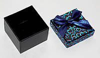 Коробка подарочная малая для кольца ювелирных изделий День Валентина черная 4.5x4.5x3.5 см, фото 1