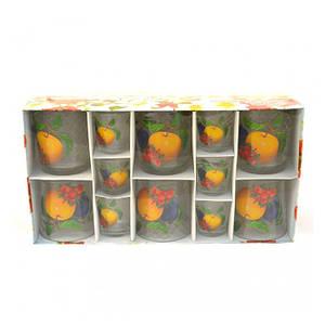 Набір Helios Флоріна фрукти низький 6 склянок + 6 чарок 8263