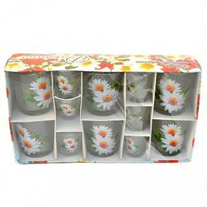 Набір Helios Флоріна квіти низький 6 склянок + 6 чарок 8262