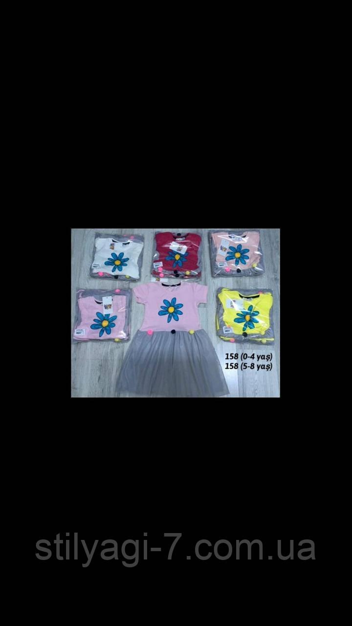 Сукня для дівчинки 5-8 років жовтого, малинового, рожевого, персикового, сірого, білого кольору оптом
