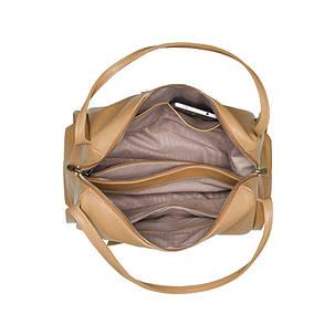 Кожаная сумка для женщин Vito Torelli 1042-1 бежевая карамель, фото 2