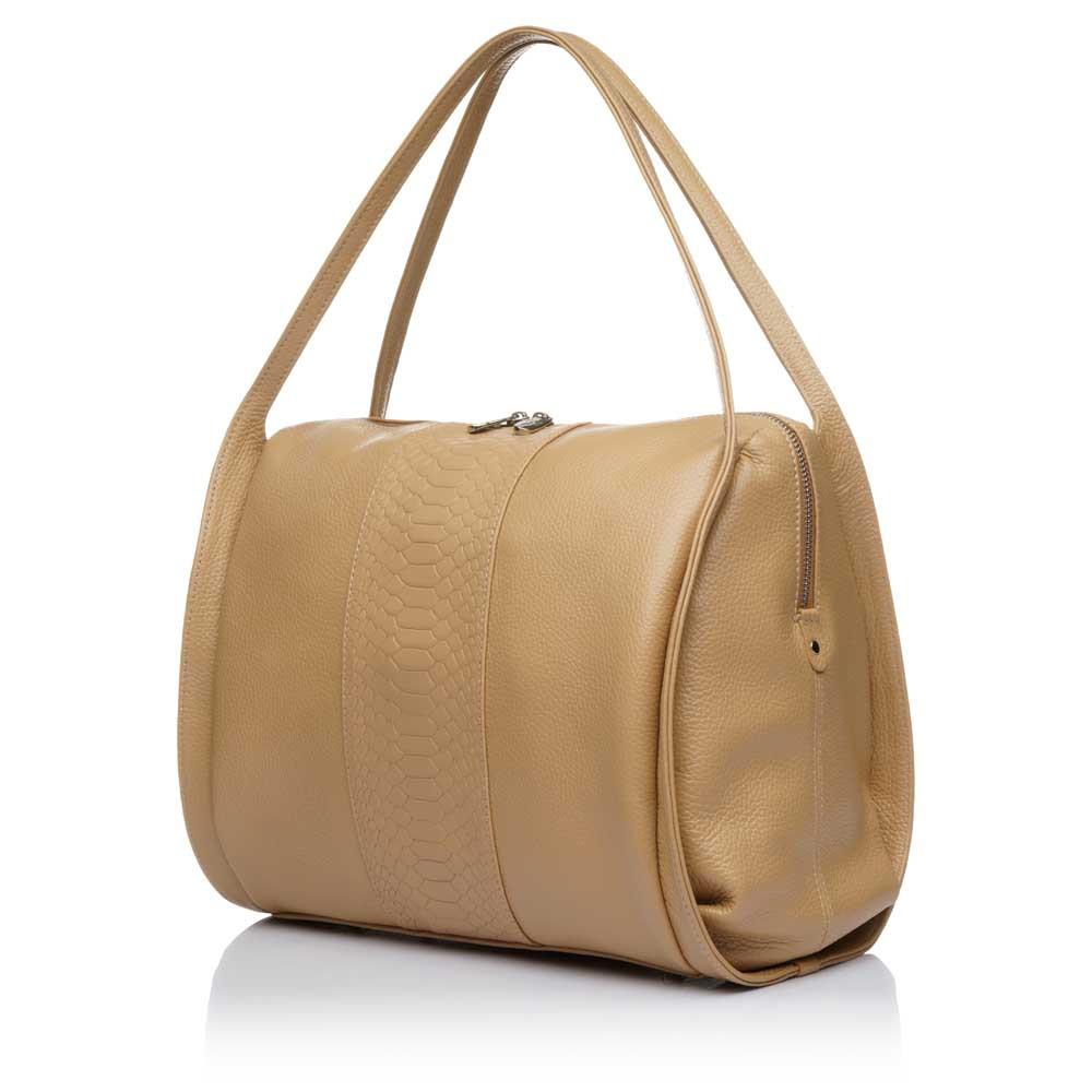 Кожаная сумка для женщин Vito Torelli 1042-1 бежевая карамель