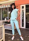 Спортивный костюм женский NOBILITAS 42 - 48 голубой трикотаж (арт. 21021), фото 4