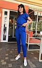 Спортивный костюм женский NOBILITAS 42 - 48 голубой трикотаж (арт. 21021), фото 3