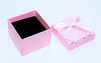 Коробка подарочная розовая малая для кольца ювелирных изделий Сердца День Валентина 4.5x4.5x3.5 см, фото 1