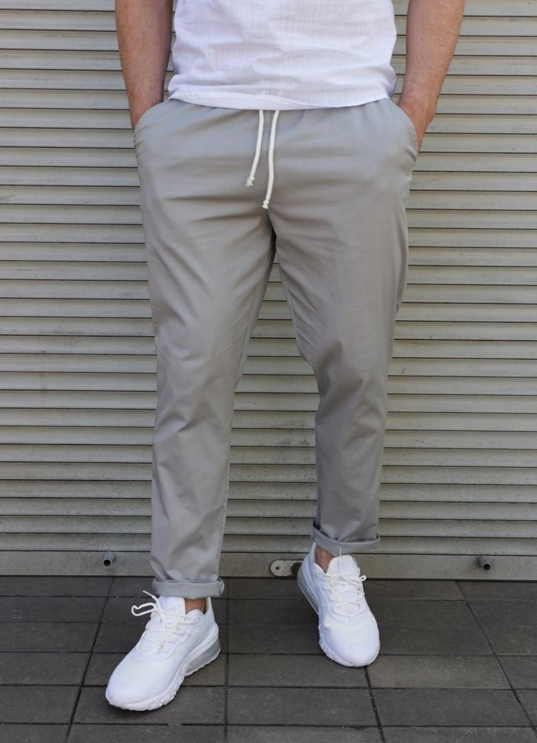 Чоловічі літні брюки сірі Сл 1837