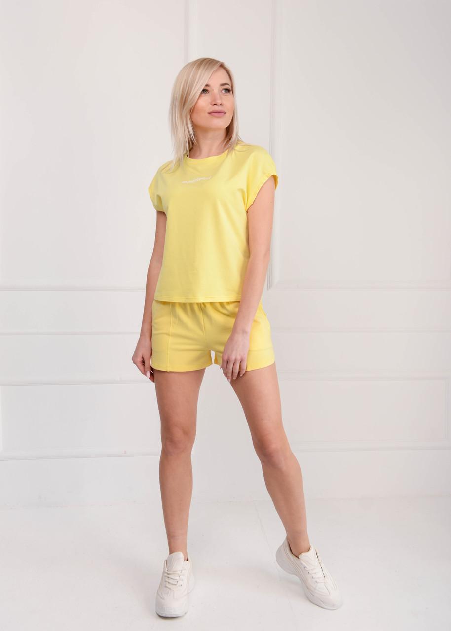 Костюм женский с шортами лимон