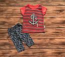 Дитячий літній костюм Якір для дівчинки на 1-3 роки, фото 2