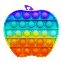 Антистрес сенсорна іграшка Pop It райдужне яблуко