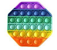 Антистрес сенсорна іграшка Pop It райдужний восьмикутник