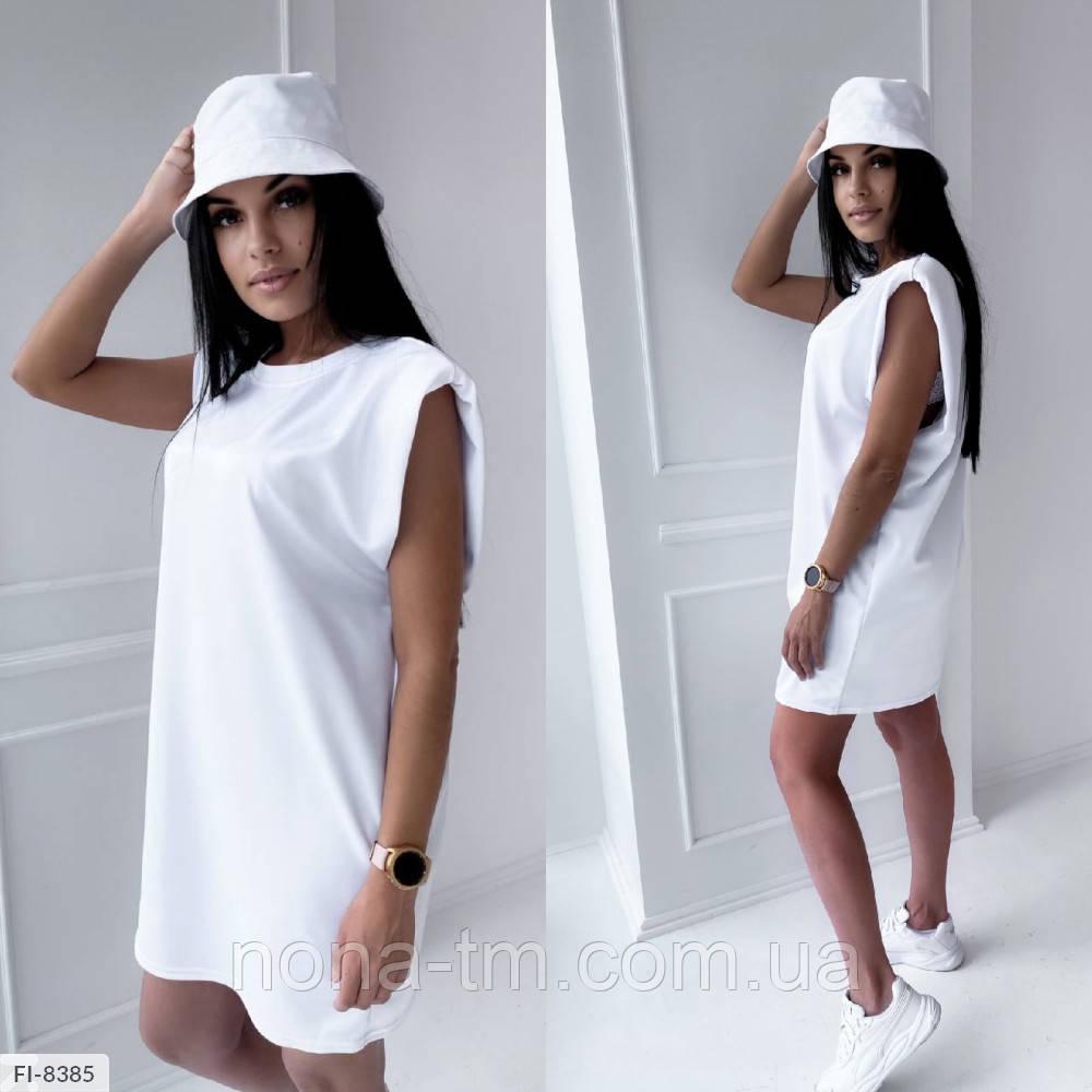 Женское платье летнее с подплечниками