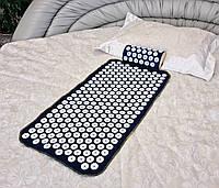 Аппликатор Кузнецова массажный акупунктурный коврик с подушкой массажер для спины/ног OSPORT (n-0004)