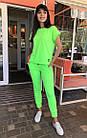 Спортивный костюм женский NOBILITAS 42 - 48 салатовый трикотаж (арт. 21021), фото 2