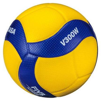 М'яч волейбольний Mikasa V300W Жовто-синій (4907225880997), фото 2
