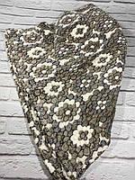 Плед мягкий из микрофибры 200*220 см Плед Снежок ,большой приятный к телу травка