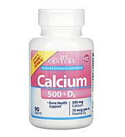 21 Century Кальцій та вітамін Д3, 90 таблеток, фото 1