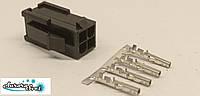Разъем 4 контактный Mini-Fit вилка + контакты,для питания видеокарты под обжимку.Коннектор Molex 2x2Pin 4.2mm, фото 1