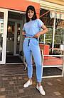 Спортивный костюм женский NOBILITAS 42 - 48 бирюзовый трикотаж (арт. 21021), фото 4