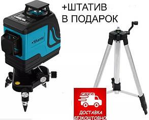 Лазерний рівень Sturm 1040-12-GR,+ Штатив у подарунок! 12 променів 3D лазерний рівень