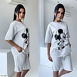 Костюм женский спортивный шорты и футболка на лето, фото 2