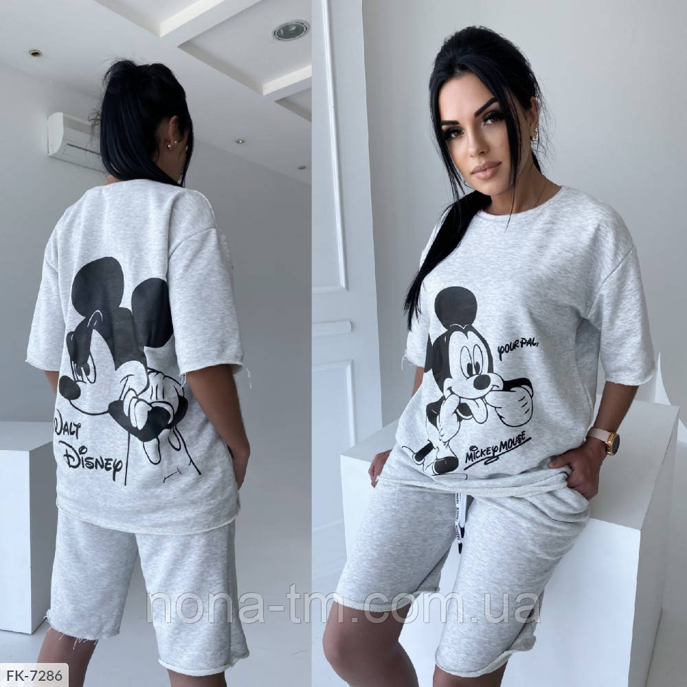 Костюм женский спортивный шорты и футболка на лето