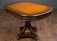 """Обеденный стол из дерева квадратный, от фабрики """"Курьер"""" в стиле Прованс, в классическом стиле, раскладной"""