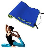 Йога коврик каремат SportVida Neopren 6 мм Blue для занятия спортом, фитнеса, пилатеса и йоги гимнастический