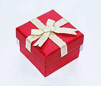 Коробка подарочная красная малая для кольца ювелирных изделий День Валенина 4x4x3 см, фото 1
