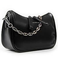 Женская сумка через плечо черного цвета кожа А. Rai классическая сумочка из натуральной кожи, фото 1