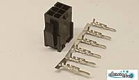 Разъем/коннектор 6 контактный Mini-Fit вилка + контакты,для питания PC под обжимку.Коннектор Molex 2x3Pin, фото 1