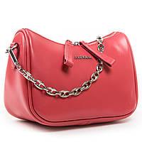 Женская сумка через плечо красного цвета кожа А. Rai классическая сумочка из натуральной кожи, фото 1