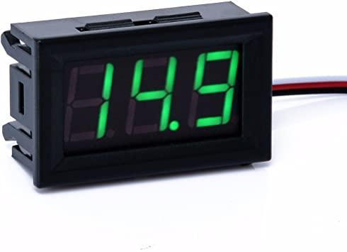 Вольтметр в корпусі 0 - 100(99,9) В зелений