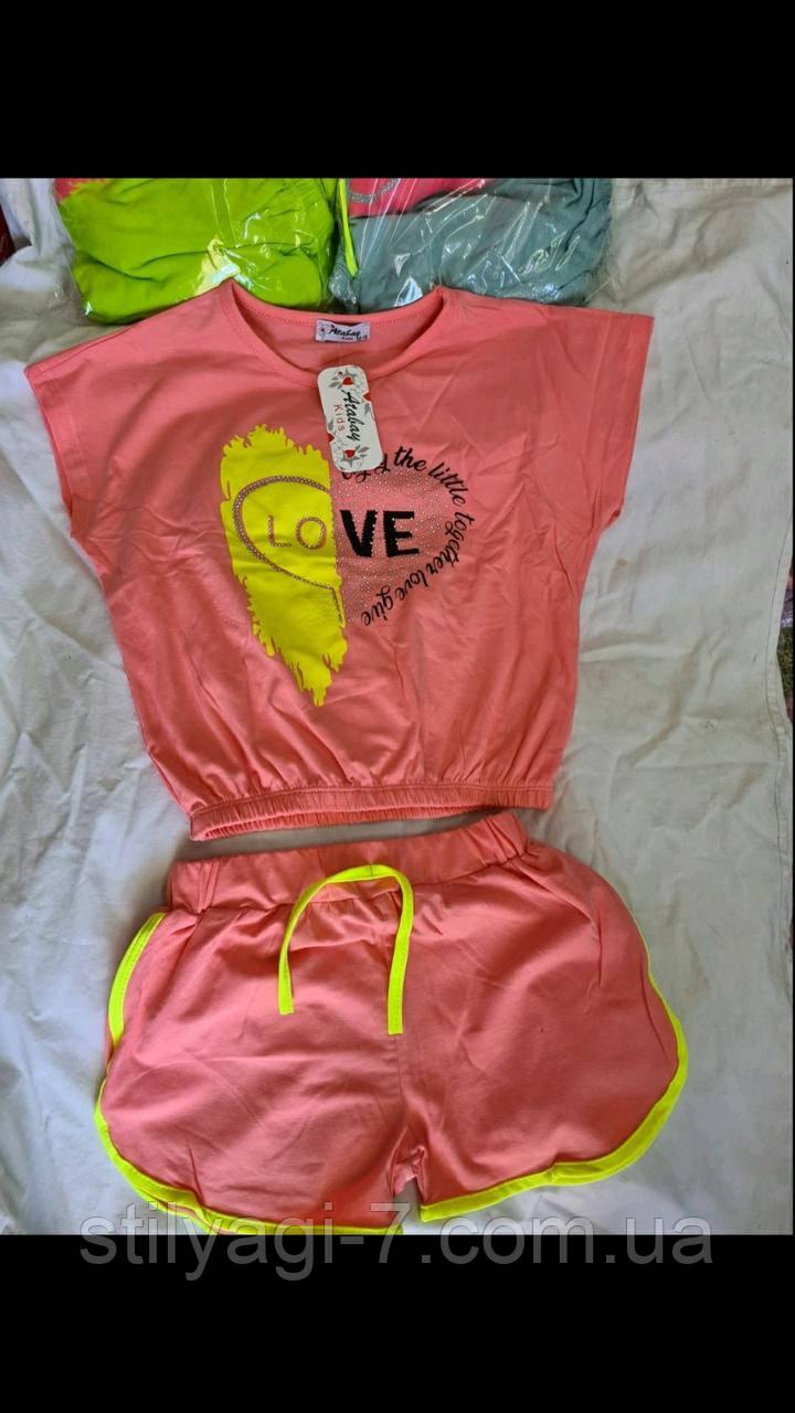 Костюм для девочки на 13-16 лет  мятного, персикового, салатового цвета оптом