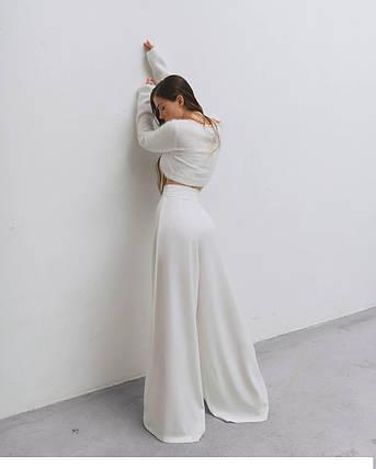 """Брюки женские широкие прямые """"круиз"""" AniTi 627, молочный, фото 2"""