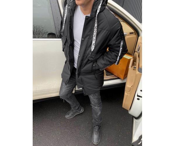 Sale мужская куртка off black grey  15-2+