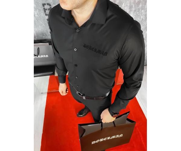 Рубашка doberman black 1-3.