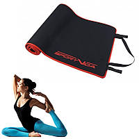 Йога коврик каремат SportVida Neopren 6 мм Black для занятия спортом, фитнеса, пилатеса и йоги гимнастический